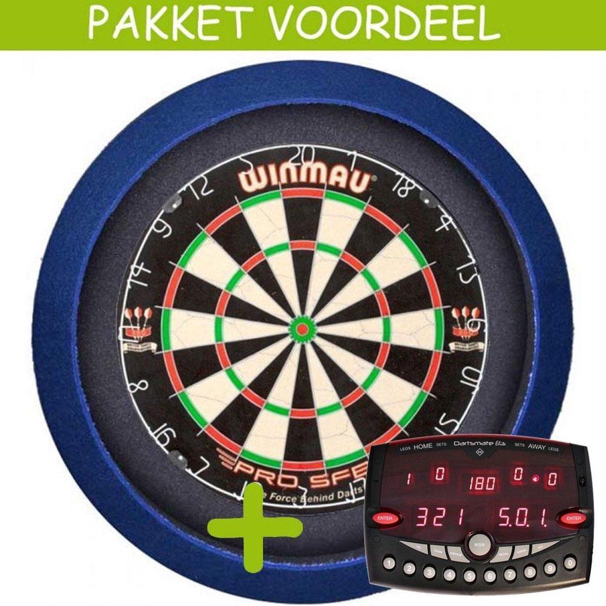 Elektronisch Dart Scorebord VoordeelPakket (Elite ) - Pro SFB - Dartbordverlichting Basic (Blauw)