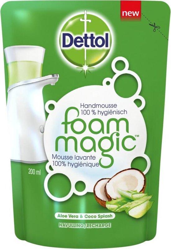 Dettol Magic Foam navulling Aloë vera - 6 x 200 ml - Grootverpakking