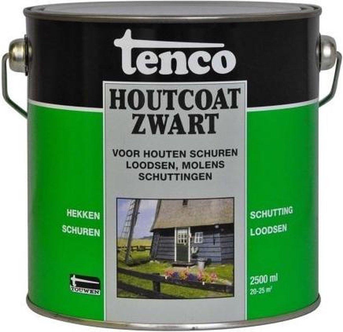 Tenco Houtcoating Zwart - 2,5 liter