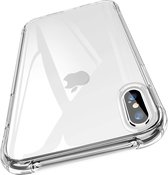 iPhone X hoesje - iPhone Xs hoesjes - iPhone X cases - hoesje iPhone X - iPhone Xs hoesje - iPhone X case - hoesje iPhone Xs - telefoonhoesje iPhone X - Siliconen hoesje - Transparant - iMoshion Shockproof Case