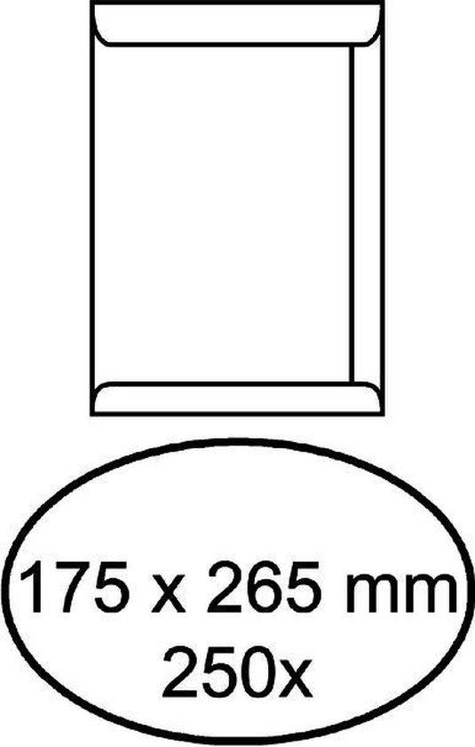 Envelop akte 175 x 265 mm zelfklevend 100 gr wit