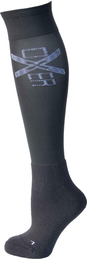 RelaxPets - Oxer Socks - Antracietgrijs - Maat 36-42 - 2 Paar - Unisex - Chusion Foot