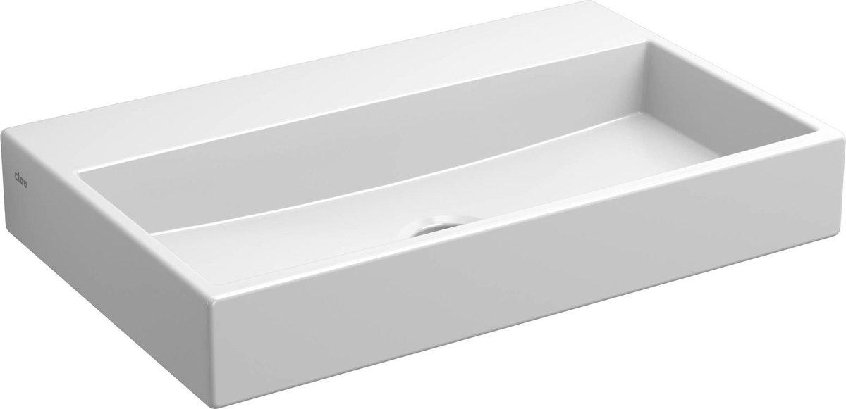 Clou Mini WashMe Fontein zonder kraangat 38x24 cm Wit
