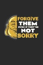 Forgive them sorry: 6x9 Buddha - dotgrid - dot grid paper - notebook - notes
