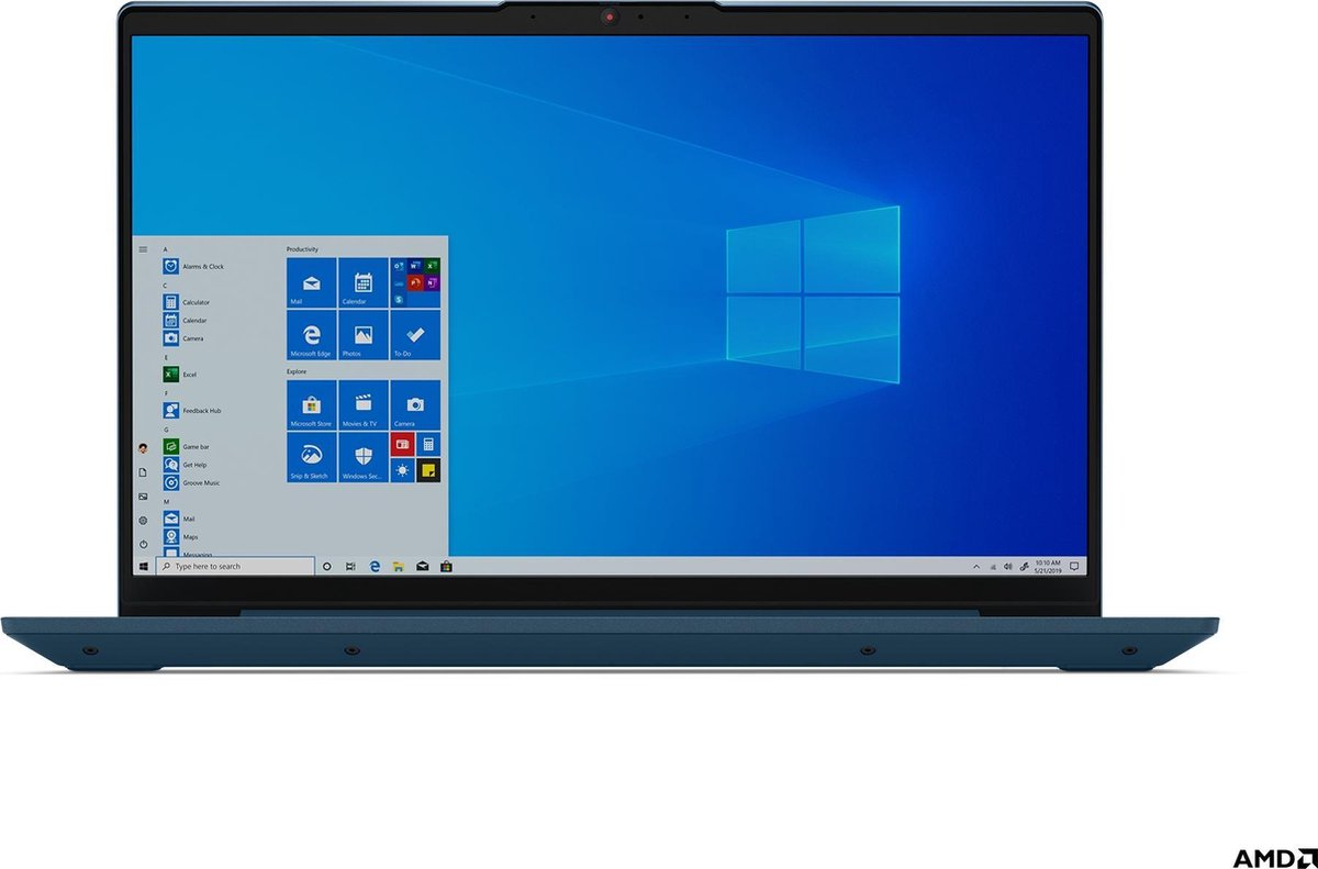 "Lenovo IdeaPad 5 Notebook Blauw 35,6 cm (14"") 1920 x 1080 Pixels AMD Ryzen 5 16 GB DDR4-SDRAM 512 GB SSD Wi-Fi 6 (802.11ax) Windows 10 Home"