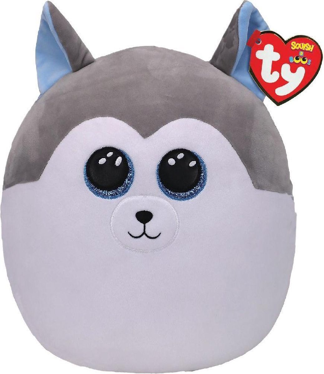 TY Squish A Boos Knuffelkussen Husky Slush 31 cm