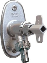 Nemo Go vorstvrije tuinkraan met terugstroombebeiligingkeerklepbeluchting inclusief sleutel en metalen greep verstelbare muurplaat chroom muurdikte L max 15 cm