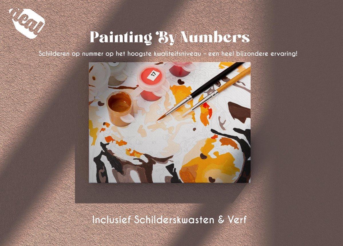Deal Diamond Painting Schilderen Op Nummer Voor Volwassenen Inclusief Lijst, Canvas, Schilderskwasten & Verf - 40 x 50 cm - Flowers