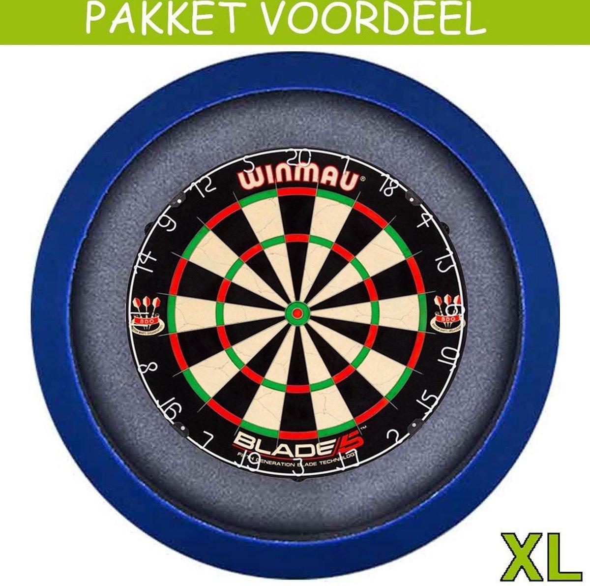Dartbord Verlichting Voordeelpakket Pro + Blade 5 + Dartbordverlichting Basic XL(Blauw)