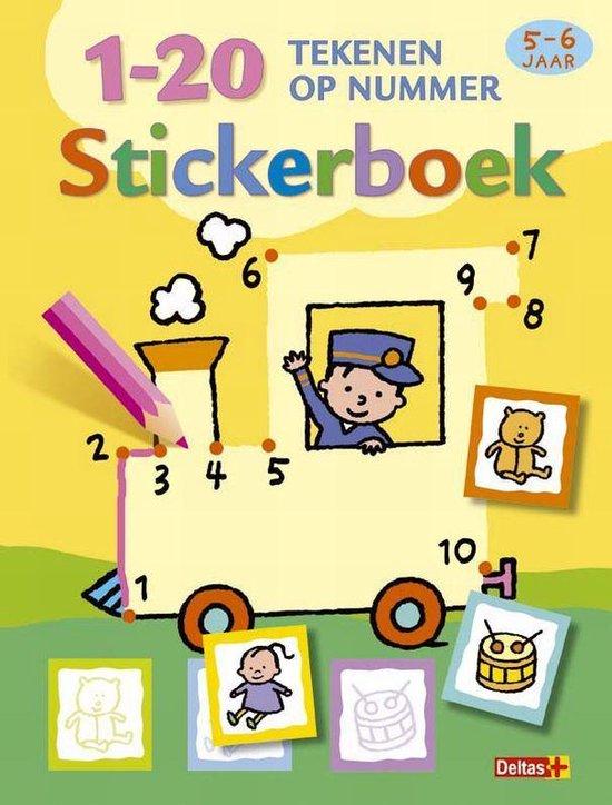 Cover van het boek '1-20 tekenen op nummer stickerboek set 3 ex'