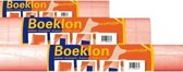 3x Boeklon kaftfolie rollen zelfklevend 250 x 50 cm- Boeken kaften kaftpapier lamineerfolie