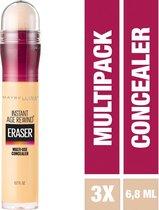 Maybelline Eraser Eye Concealer - Neutralizer - 3 stuks Voordeelverpakking