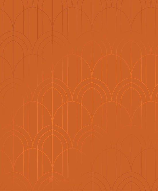 Structuurjunkie planner light - klein (18,6x22cm) - Art Deco (saffraan)