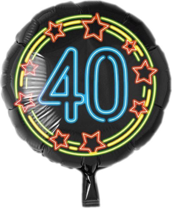 Folieballon - 40 Jaar - Neon - 43cm -  Zonder vulling