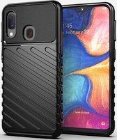 Samsung Galaxy A20e Twill Thunder Texture Back Cover Zwart