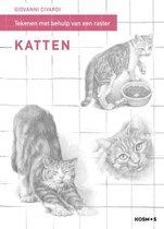 Kosmos Boek - Stap model tekenen mbv rasterlijnen - katten Giovanni Civardi