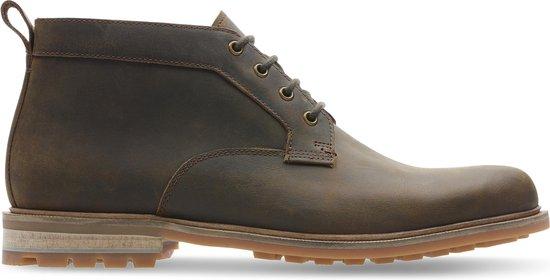 Clarks - Herenschoenen - Foxwell Mid - G - beeswax leather - maat 7,5