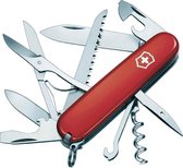 Victorinox Huntsman Zakmes - 15 Functies - Transparant Rood