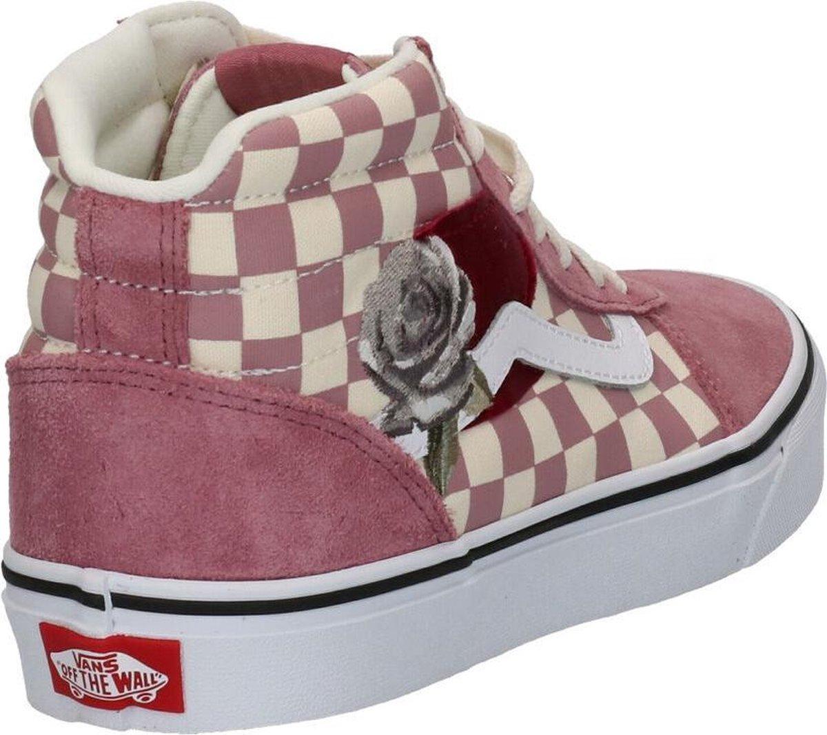 Vans Wm Ward Hi Dames Sneakers - (Patchwork) Checker/Rose - Maat 36.5 O2MMI
