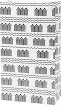 Vivi Gade Papieren Zak Huisjes 12 X 6 X 21 Cm Wit/zwart 8 Stuks