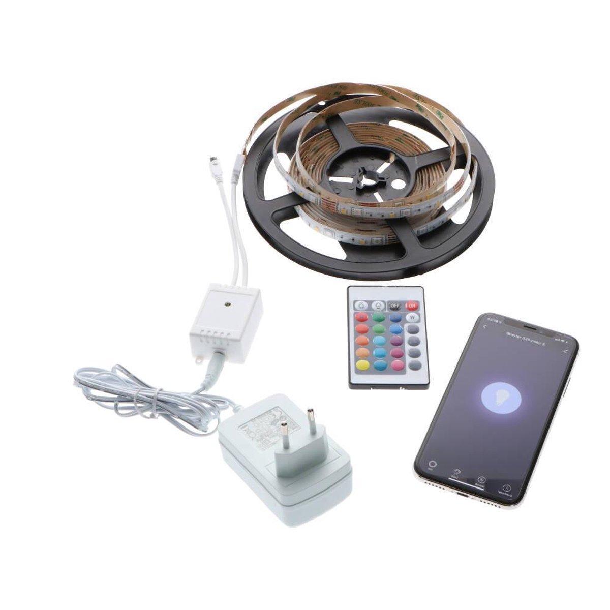 Smart LED strip met afstandbediening - 3 meter - Bedienbaar via WIFI - RGB + Warm white