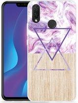 Huawei P smart plus Hoesje Color Paint Wood Art