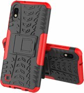 Samsung Galaxy A10 hoes - Schokbestendige Back Cover - Rood