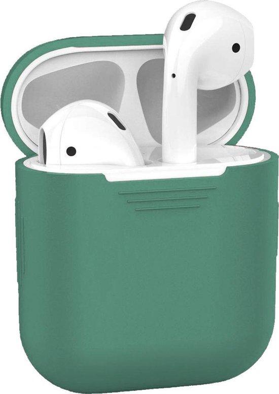 Afbeelding van Siliconen Bescherm Hoesje voor Apple AirPods Case - Midnight Green
