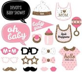 iBello Babyshower Meisje Girl Party Prop Photo Booth Set
