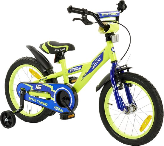 2Cycle BMX Kinderfiets - 16 inch - Geel-Blauw