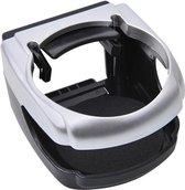 Pro+ Bekerhouder (auto) - ABS - Zwart / Zilverkleurig