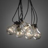 Konstsmide ® 2372-100 - Snoerverlichting - Premium 5 lamps feestverlichting warmwit op batterij 4x AA - 200cm - zeer energiezuinig - ON/OFF/6u timer keuzeschakelaar - 3m aansluitsnoer - voor buiten en binnen