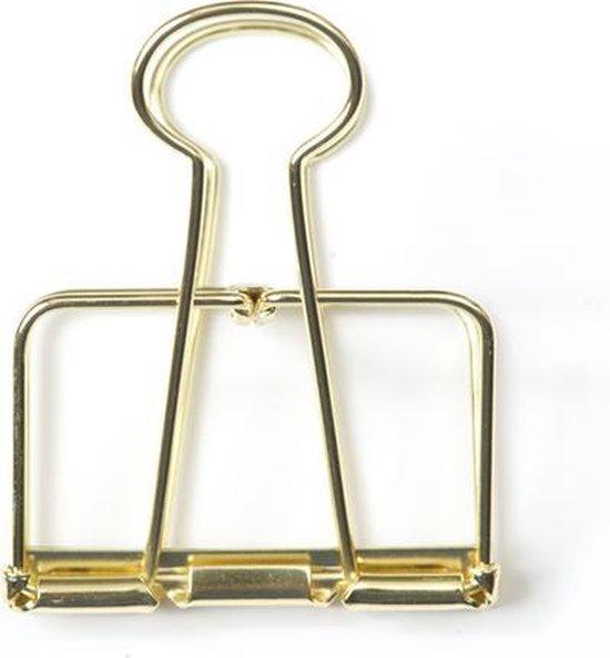 Monograph Gouden binder clip 5 cm (5 centimeter)