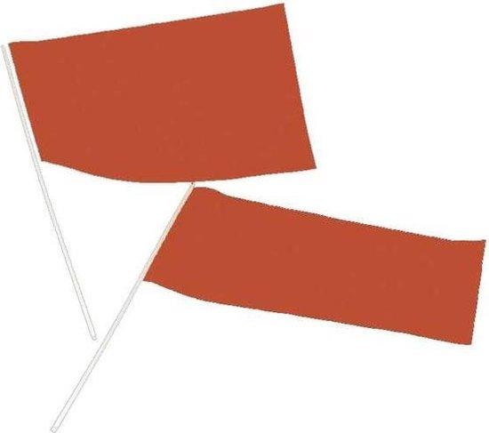 Haza Original Zwaaivlag Papier 20 X 30 Cm Oranje