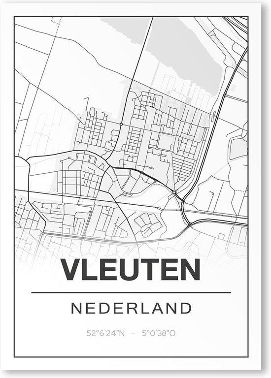 Poster/plattegrond VLEUTEN - A4