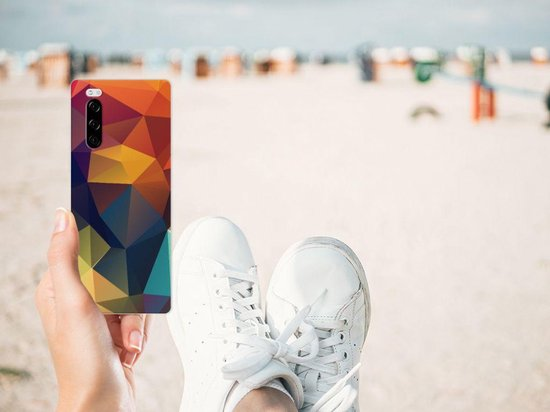 TPU Hoesje Sony Xperia 5 Polygon Color