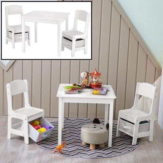 Uitgelezene bol.com | Kindertafel met stoeltjes van hout – 1 tafel en 2 XM-89