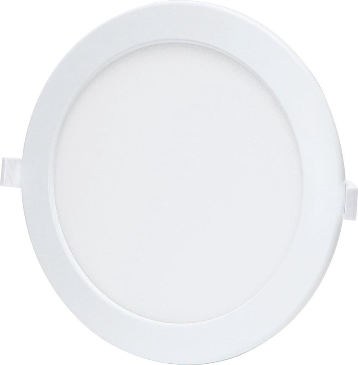 LED Downlight - Smart LED - Aigi Zumba - 18W - Aanpasbare Kleur - Inbouw Rond - Mat Wit - Aluminium - Ø220mm - BSE