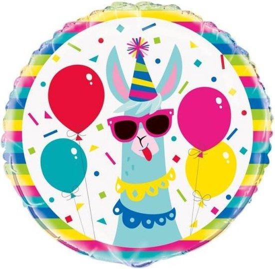 folieballon Llama feestje 45 cm