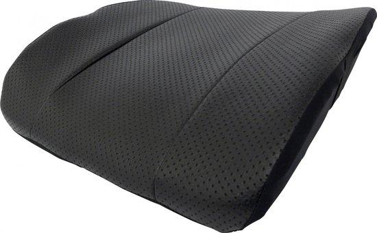 Lendesteun in Leatherlook - Kussen voor in de auto, thuis of op kantoor. Voor steun aan de lende of onderrug