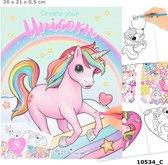Ylvi & The Minimoomis Kleur- En Stickerboek Unicorn 26 Cm Papier