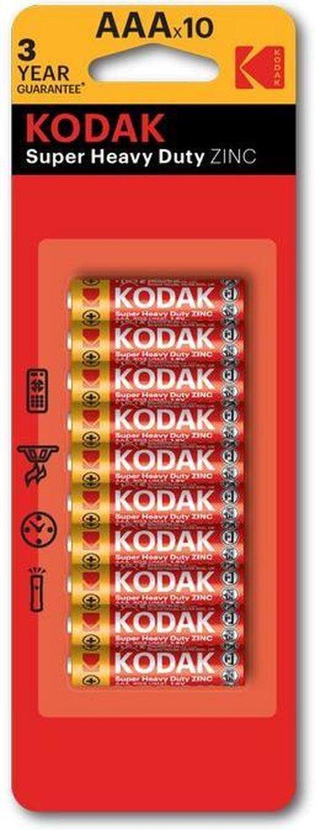 10 x Kodak Extra Heavy Duty AAA batterijen