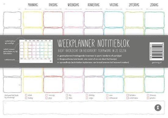 Weekplanner notitieblok