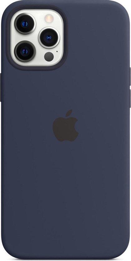 Siliconenhoesje met MagSafe voor iPhone 12 Pro Max - Donkermarineblauw