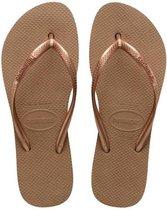 Havaianas Slim Flatform Dames Slippers - Rose Gold - Maat 41/42