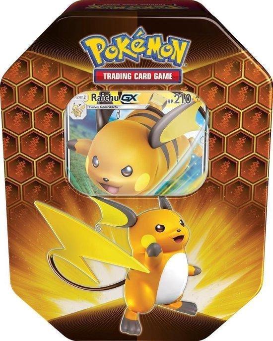 Afbeelding van het spel Pokemon TCG Hidden Fates Tin Box Raichu GX
