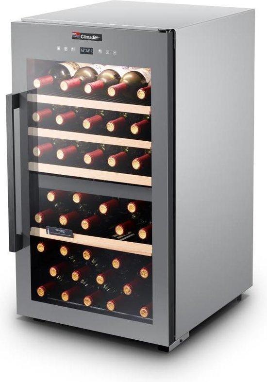 Koelkast: Climadiff CLS56MT - Wijnkoelkast - 56 flessen, van het merk Climadiff