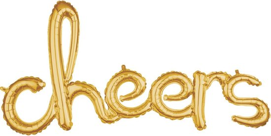Amscan Ballon Cheers 100 Cm Folie Goud