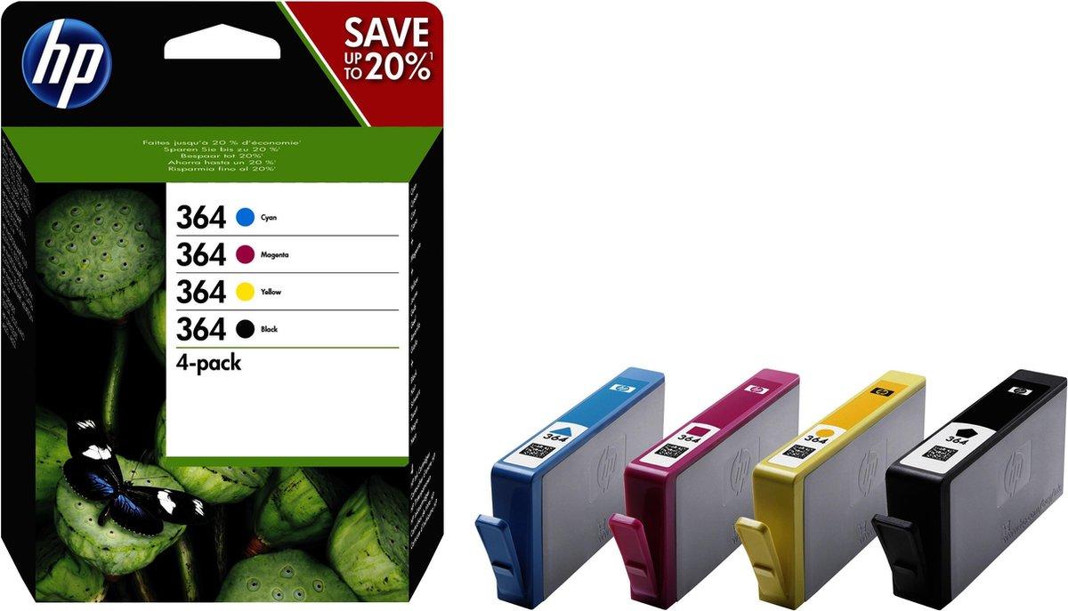 HP 364 - Inktcartridge / Zwart / Cyaan / Magenta / Geel / 4-pack / (N9J73AE)