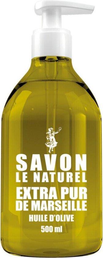 Savon Le Naturel Savon Vloeibare Natuurlijk Handzeep - Olijfolie - 8 x 500ml - Multiverpakking